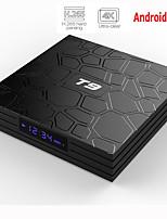 Недорогие -T9 RK3318 Smart TV Box Android 9,0 4 ГБ оперативной памяти 32 ГБ 64 ГБ 4 К Wi-Fi медиаплеер Google Voice Assistant Netflix YouTube HDR BT4.0 USB 3.0 Airplay Goole Play Set Top Box 2 ГБ 16 ГБ