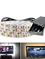 Недорогие -5м гибкие светодиодные полосы 300 светодиодов smd3528 5мм теплый белый / белый / красный креатив / вечеринка / декоративные батарейки 1 комплект