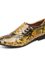 cheap -Men's Summer / Fall Classic / Casual Daily Office & Career Loafers & Slip-Ons Faux Leather Non-slipping Wear Proof Purple / Gold / Silver