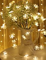 Недорогие -10 м 80 светодиодов снежинка гирлянда снежная фея украшения гирлянды на елку новый год комната день святого валентина аккумулятор