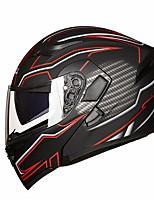 Недорогие -jiekai jk902 анфас мотоциклетный шлем с двумя объективами откидной мотоцикл мото мотокросс скутер двойные козырьки шлемы