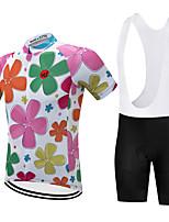 Недорогие -Vendull Цветочные ботанический Муж. С короткими рукавами Велокофты и велошорты-комбинезоны - Розовый + зеленый Розовый Велоспорт Наборы одежды Дышащий Быстровысыхающий Анатомический дизайн Виды спорта