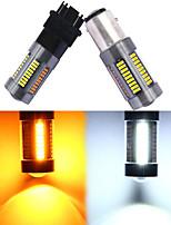cheap -2pcs 1157 BAY15D T25 3157 T20 7443 Led 4014 66 SMD Auto Car Bulbs Turn Signal Lights Brake Lamp 12V Dual-Color White Amber