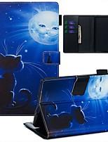 Недорогие -Кейс для Назначение Amazon Kindle Paperwhite 2018 Кошелек / Бумажник для карт / С узором Чехол Кот / Пейзаж Кожа PU / ТПУ