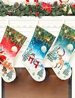 Недорогие -ткань рождественские носки праздничные атрибуты елочные украшения новогодние подарки носки лось-де-санта снеговик подарочные пакеты украшения дома