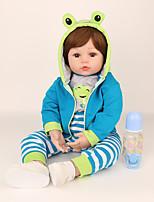 Недорогие -NPK DOLL Куклы реборн Куклы Мальчики Девочки 16 дюймовый Безопасность Подарок Очаровательный Детские Универсальные / Девочки Игрушки Подарок
