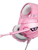 Недорогие -Litbest K5 светодиодные игровые наушники гарнитура с микрофоном для PS4 ПК розовый воин геймер