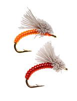 Недорогие -8 pcs Мухи Мухи Тонущие Bass Форель щука Ловля нахлыстом Металл