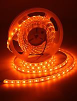 Недорогие -5 метров Гибкие светодиодные ленты / Гирлянды 300 светодиоды 5050 SMD 1 адаптер x 12V 2A Оранжевый Водонепроницаемый / Для вечеринок / Декоративная 85-265 V 1 комплект
