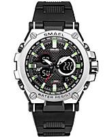 Недорогие -Муж. электронные часы Японский Цифровой Pезина Черный / Зеленый / Хаки 50 m Защита от влаги Секундомер Новый дизайн Аналого-цифровые На открытом воздухе Новое поступление -  / Два года