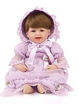 Недорогие -NPK DOLL Куклы реборн Куклы Мальчики Девочки 22 дюймовый Безопасность Подарок Очаровательный Детские Универсальные / Девочки Игрушки Подарок