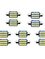 Недорогие -10шт 31мм / 36мм / 39мм автомобильные лампочки smd 3014 светодиодные фонари номерного знака / задние фонари / габаритные огни для универсальных на все годы