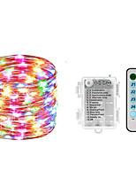 Недорогие -10 м 100 светодиодов музыка управления звуком светлая строка декоративные спальня сад двор рождественские свадьбы партии медной проволоки строка светодиодная лампа