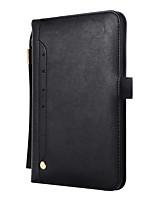 Недорогие -Кейс для Назначение Apple iPad Mini 3/2/1 / iPad Mini 4 Кошелек / Магнитный / Авто Режим сна / Пробуждение Чехол Однотонный Кожа PU / ТПУ
