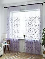 Недорогие -Modern Прозрачный 1 панель Прозрачный Спальня   Curtains