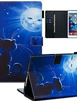 Недорогие -Кейс для Назначение Apple iPad Air / iPad (2018) / iPad Air 2 Кошелек / Бумажник для карт / С узором Чехол Кот / Пейзаж Кожа PU / ТПУ