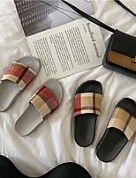 Недорогие -Женские тапочки / Тапочки для девочек Шлепанцы / Тапочки для гостей / Домашние тапки На каждый день Лён / Ткань Один цвет Обувь
