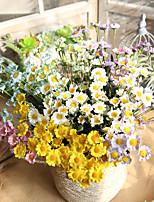 Недорогие -Искусственные Цветы 1 Филиал Классический Деревня Традиционный / классический Ромашки Букеты на стол