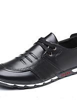 Недорогие -Муж. Комфортная обувь Полиуретан Осень На каждый день Туфли на шнуровке Нескользкий Черный / Коричневый