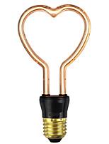 Недорогие -1шт 4 W LED лампы накаливания 1 lm E26 / E27 1 Светодиодные бусины Мягкая нить Тёплый белый 220-240 V