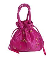 Недорогие -Жен. Цветы Полиэстер Вечерняя сумочка Вышивка Винный / Белый / Розовый
