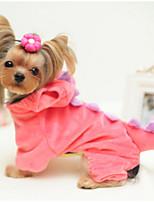 Недорогие -Собаки Инвентарь Одежда для собак Животное Зеленый Розовый Полиэстер Костюм Назначение Зима Косплей Хэллоуин