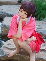 Недорогие -Вдохновлен Унесенные призраками Тихиро Огино Аниме Косплэй костюмы Японский Косплей Костюмы Юбки Назначение Жен.