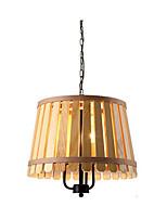 Недорогие -3-Light Оригинальные Люстры и лампы Рассеянное освещение Окрашенные отделки Металл Дерево / бамбук Защите для глаз 110-120Вольт / 220-240Вольт