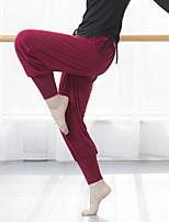 Недорогие -Жен. С высокой талией Гарем Штаны для йоги Сплошной цвет Модал Фитнес Тренировка в тренажерном зале Нижняя часть Спортивная одежда Дышащий Быстровысыхающий Мягкий Эластичная Свободный силуэт