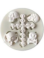 Недорогие -1 шт. Хэллоуин серии черепа жидкие силиконовые формы мягкий торт керамика глина инструменты моделирования