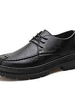 Недорогие -Муж. Комфортная обувь Полиуретан Осень На каждый день Туфли на шнуровке Черный / Коричневый / Винный