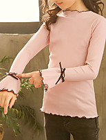 Недорогие -Дети Дети (1-4 лет) Девочки Классический Уличный стиль Однотонный Бант Длинный рукав Свитер / кардиган Белый