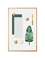 Недорогие -Холст в раме - Натюрморт ботанический Полистирен Масляные картины Предметы искусства