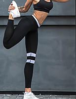 Недорогие -Жен. Штаны для йоги В полоску Бег Фитнес Тренировка в тренажерном зале Нижняя часть Спортивная одежда Дышащий Влагоотводящие Быстровысыхающий Подтяжка Эластичная