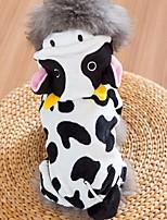 Недорогие -Собаки Плащи Одежда для собак другое Белый Полиэстер Костюм Назначение Зима Праздник Хэллоуин