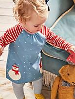 Недорогие -Дети (1-4 лет) Девочки Активный С принтом Длинный рукав Набор одежды Синий