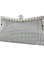 cheap -Women's Beading / Flower Alloy Clutch Solid Color Black / Gold / Silver