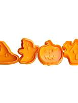 Недорогие -4шт кремнийорганическая резина Halloween Необычные гаджеты для кухни Десертные инструменты Инструменты для выпечки