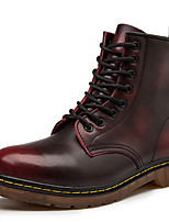cheap -Women's Boots Low Heel Round Toe Cowhide Booties / Ankle Boots Sporty / Classic Winter / Fall & Winter Black / Brown / Burgundy