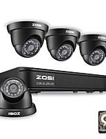 Недорогие -Система видеонаблюдения ZOSI 8CH 720P Видеонаблюдение Видеорегистраторы 4-в-1 Аналоговое ТВ-видеонаблюдение с жестким диском 1