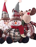 Недорогие -милые рождественские игрушки куклы санта клаус снеговик лось рождественская елка висячие украшения украшения для дома рождественская вечеринка новогодние подарки
