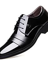 Недорогие -Муж. Кожаные ботинки Кожа Весна / Наступила зима Английский Туфли на шнуровке Нескользкий Черный