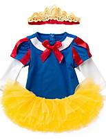 Недорогие -малыш Девочки Уличный стиль Контрастных цветов Длинный рукав Обычный Набор одежды Желтый