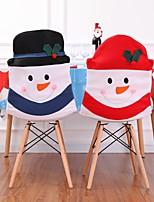 Недорогие -1 шт. Рождественский снеговик стулья набор семейная комбинация рождественские украшения дома крышка стула