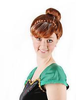 Недорогие -Косплей Принцесса Косплэй парики Жен. 8 дюймовый Синтетика Коричневый Коричневый Аниме