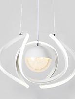 Недорогие -нордический светодиодный подвесной светильник акриловый абажур с металлической отделкой для гостиной, гостиной и столовой