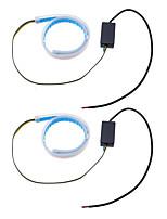 Недорогие -2шт ультра тонкая направляющая полоса белого света дневного света янтарный поворот лампы выключатель последовательный 2шт
