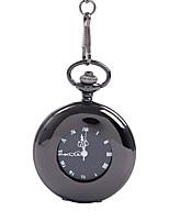 Недорогие -Муж. Карманные часы Кварцевый Старинный Черный С гравировкой Творчество Новый дизайн Аналоговый Винтаж - Черный