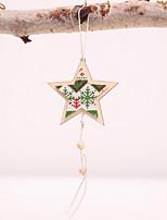 Недорогие -Рождественские украшения Праздник деревянный Мини деревянный Рождественские украшения