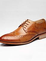 Недорогие -Муж. Комфортная обувь Кожа Осень На каждый день Туфли на шнуровке Высота возрастающей Черный / Коричневый / Вино / Для вечеринки / ужина